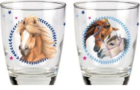 Die Spiegelburg Pferdefreunde Trinkgläser (2 Stück mit unterschiedlichem Motiv)